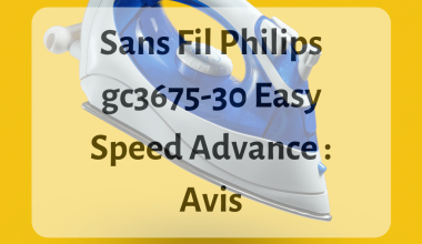 Où trouver le fer à repasser Philips gc3675-30 Easy Speed Advance ?